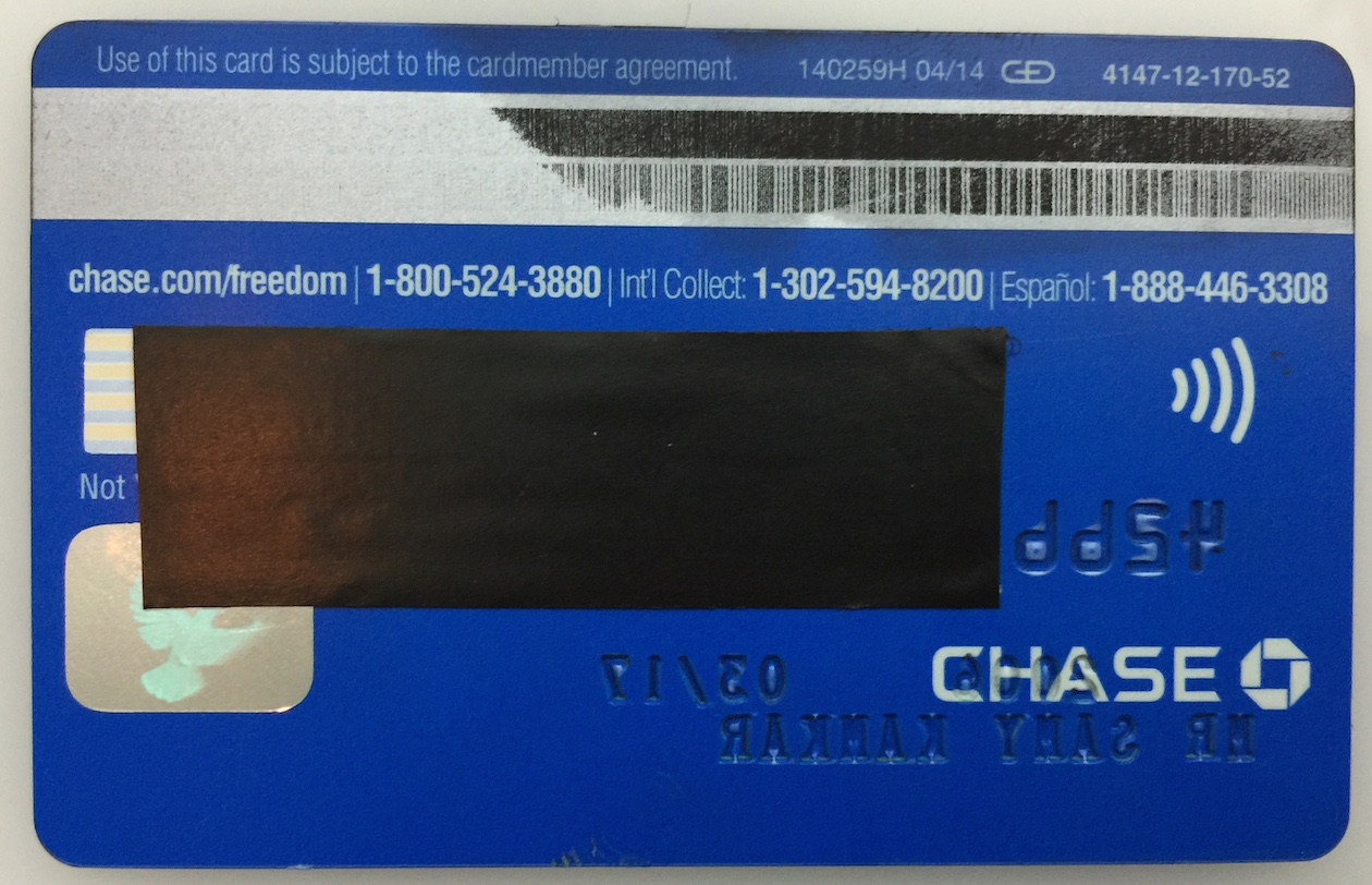 Credit card magnetic stripe