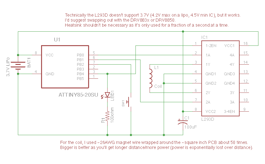 MagSpoof Schematic (DIP version)