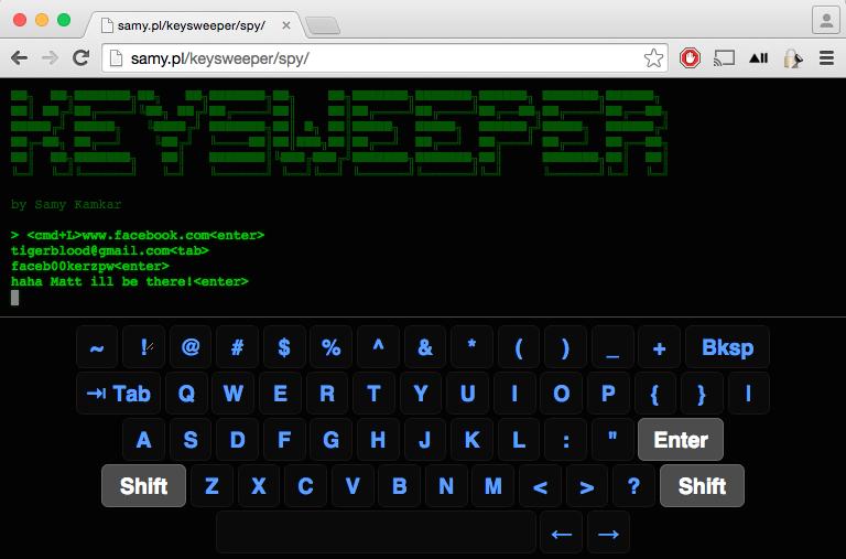 KeySweeper Live Monitoring Tool
